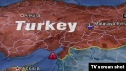 Сирия атып түсірген түрік ұшағы құлаған маң (Түркияның айтуынша). Анкара, 22 маусым 2012 жыл.