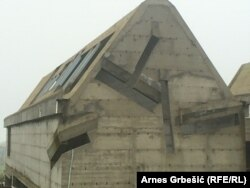 Монастырь Плехан, разрушенный и не восстановленный после боснийской войны.