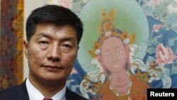 Exiled Tibetan leader Lobsang Sangay