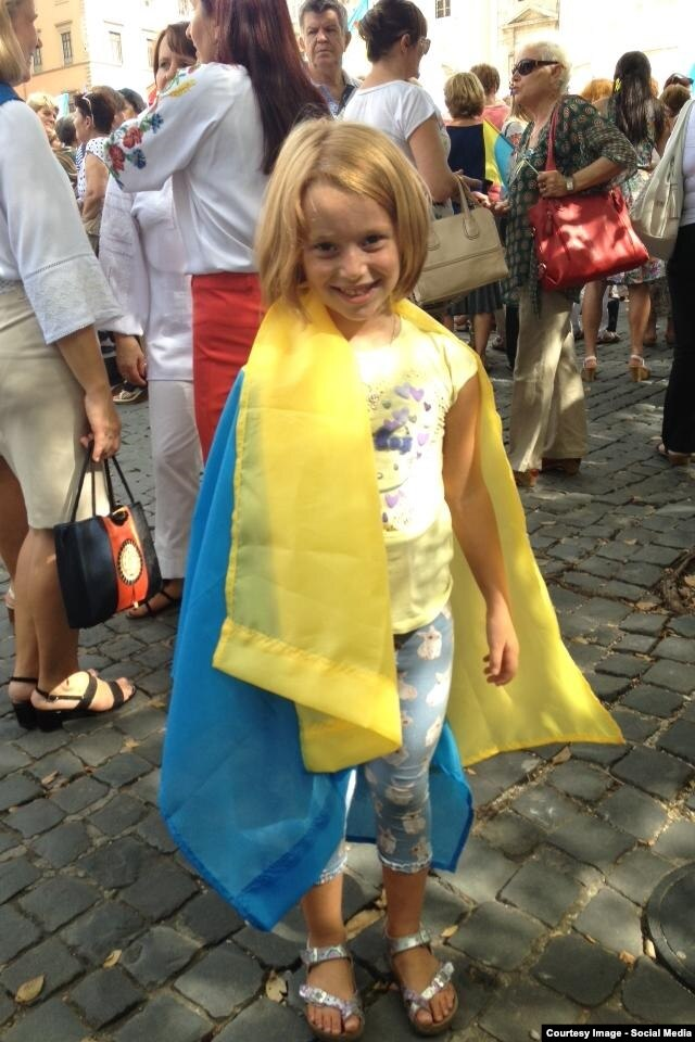 Участница Марша мира в Риме