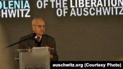 Ivan Martînușkin la ceremonia de aniversare a eliberării lagărului Auschwitz, Polonia, ianuarie 2013