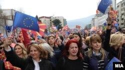 Protesta e 8 marsit në Maqedoni