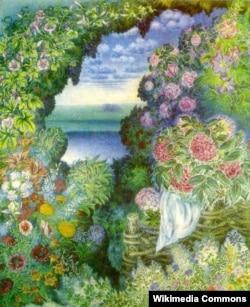 «Колгоспне поле», полотно Катерини Білокур