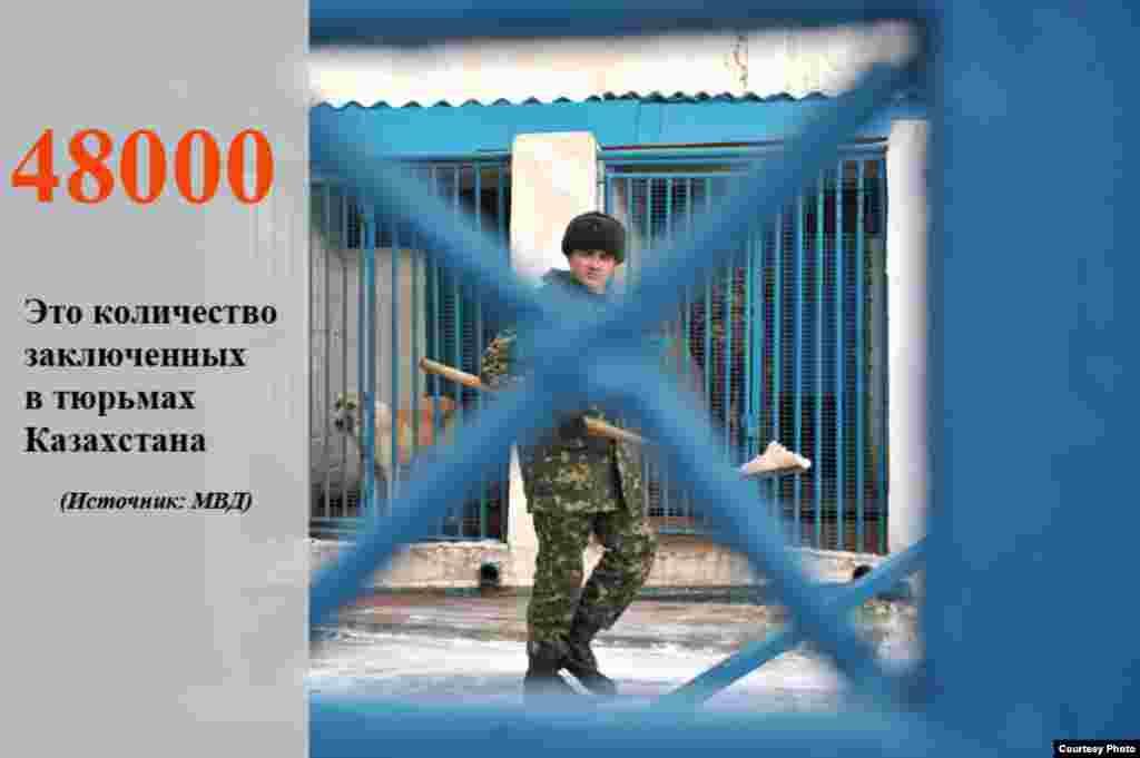 Количество заключенных в Казахстане.