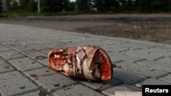 После артобстрела. Макеевка, окрестности Донецка, август 2014 года