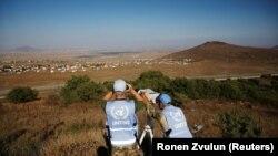 Вид на сирийскую территорию с оккупированных Израилем Голанских высот