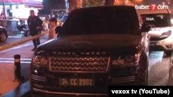 Внедорожник Range Rover с дипномерами генконсульства Кыргызстана на месте убийства Саймаити.