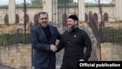Главы Ингушетии и Чечни Юнус-Бек Евкуров и Рамзан Кадыров.