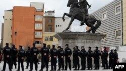 Pjesëtarë të policisë së Kosovës në Prishtinë