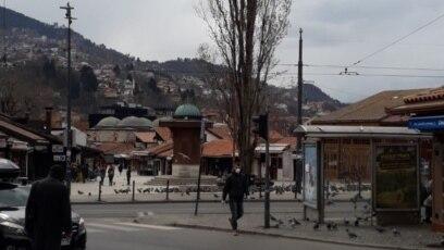 Baščaršija, Sarajevo, 23 mart, 2020.