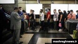 Iran's Deputy Health Minister Iraj Harirchi inspecting an underground (Metro) station in Tehran. August 4, 2020.