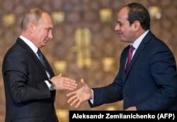 Встреча Владимира Путина и Абделя Фаттаха ас-Сиси. Каир, 11 декабря