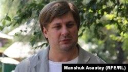 Журналист Денис Кривошеев. Алматы, 12 шілде 2016 жыл.