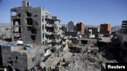 Здания, разрушенные во время полицейской операции в Джизре