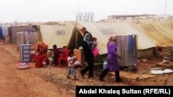 Лагерь сирийских беженцев, иллюстрационное фото