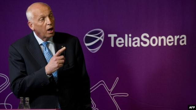 TeliaSonera CEO Lars Nyberg (shown in January) stepped down February 1 as the company, whose two largest stakeholders are the Swedish and Finnish governments, came under increasing scrutiny for its activities in Uzbekistan.