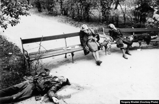 Місце групового самогубства у Відні в 1945 році. Радянська армія увійшла до столиці Австрії в середині квітня 1945 року