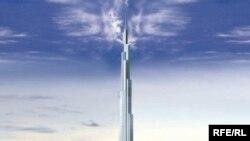 برج دبی که از ماه ژوئيه به عنوان بلندترين ساختمان جهان شناخته شد