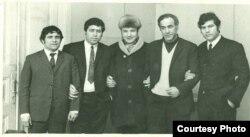 soldan: İsa İsmayılzadə, İsrail Mustafayev, Yalçın Rzazadə, Sabir Əhmədli, Sabir Rüstəmxanlı...