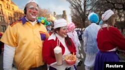 مشهد للاحتفال بعيد الشكر في نيويورك 28تشرين الثاني 2013