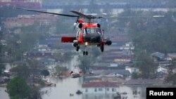 Vedere aeriană a devastărilor produse de uraganul Katrine în 2005