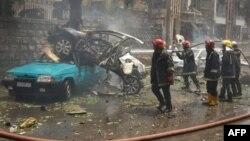 Սիրիա - Հալեպի փողոցներից մեկը հերթական հրթիռակոծությունից հետո, 3-ը մայիսի, 2016թ․