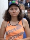 """Olga Misik says that the case was filed against her and the other two activists """"because in our country, it is forbidden to protest against the authorities."""""""