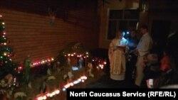 Празднование Рождества католиками во Владикавказе (Северная Осетия-Алания)