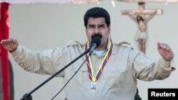Վենեսուելայի նախագահ Նիկոլաս Մադուրոն ելույթի ժամանակ, սեպտեմբեր, 2013թ․