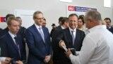 Franco Frattini la ceremonia de înmânare a plăcuțelor auto neutre, Tiraspol, 10 septembrie 2018