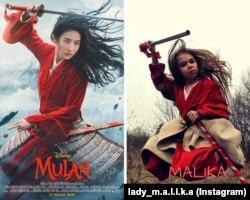 В школе в Казани детям дали задание переодеться в героев из любимых фильмов. Малика Сингатуллина из театрального кружка в образе своего любимого героя Мулан.