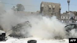 Pamje nga një eksplodim në Damask më 28 qershor