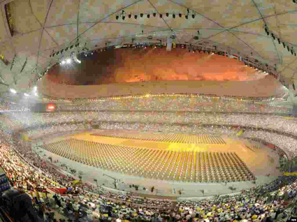 آیین گشایش المپیک پکن در استادیوم ملی پکن