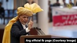 آرشیف/ محمد اشرف غنی رئیس جمهور افغانستان در یک نشست خبری در لویه جرگه