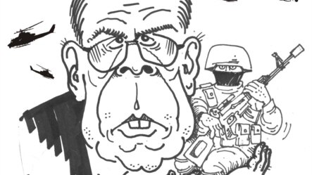 Карикатура Михайла Шлафера