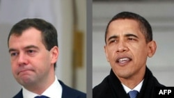 Dmitry Medvedev dhe Barack Obama