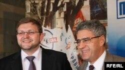 Никита Белых (слева) и Леонид Гозман полны решимости в преддверии весенних выборов