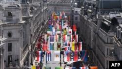 Flamujt e shteteve që marrin pjesë në Lojërat Olimpike Verore, Londër, qershor