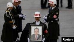 Церемонія прощання з убитим послом Росії у Туреччині Андрієм Карловим, Анкара, 20 грудня 2016 року