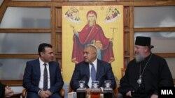 Архива: Премиерот на Бугарија Борисов во посета на Македонија, на покана на премирот Заев.