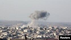 Сирійське місто Анадан зазнало ударів сирійських урядових сил та російської авіації, 3 лютого 2016 року