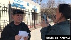 Гражданский активист Нуржан Мухаммедов. Шымкент, 10 марта 2020 года.