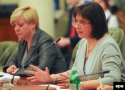 Валерія Гонтарева і міністр фінансів Наталія Яресько (праворуч)