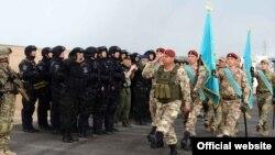 Официальная часть открытия антитеррористических учений «Кайсар-2016». Алматинская область, 29 апреля 2016 года. Иллюстративное фото.