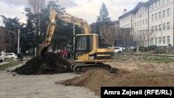 Iskopavanje terena u kampusu Univerziteta Priština