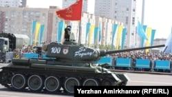 Астанада өткен әскери парадтан көрініс. 7 мамыр 2015 жыл