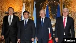 Orsýetiň, Ukrainanyň, Fransiýanyň we Germaniýanyň daşary işler ministrleri (çepden saga).