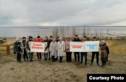 Акция протеста в Жиганске, посвященная проблемам изменения климата. Фото: Greanpeace