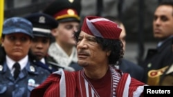 Muammar Qaddafi's whereabouts are unknown.