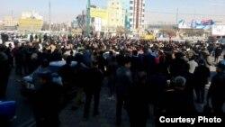 اعتراض در دی ماه گذشته در کرمانشاه، عکس از کاربر رادیو فردا